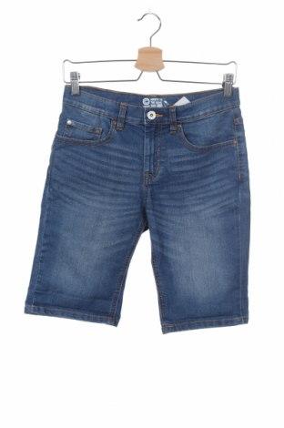 Παιδικό κοντό παντελόνι Cubus, Μέγεθος 12-13y/ 158-164 εκ., Χρώμα Μπλέ, 80% βαμβάκι, 19% πολυεστέρας, 1% ελαστάνη, Τιμή 8,57€