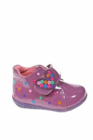 Παιδικά παπούτσια Agatha Ruiz De La Prada, Μέγεθος 19, Χρώμα Βιολετί, Γνήσιο δέρμα, Τιμή 36,12€