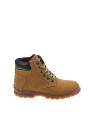 Παιδικά παπούτσια Geox, Μέγεθος 33, Χρώμα Κίτρινο, Γνήσιο δέρμα, Τιμή 71,65€