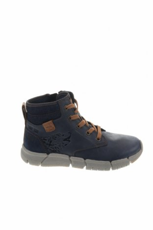 Παιδικά παπούτσια Geox, Μέγεθος 33, Χρώμα Μπλέ, Γνήσιο δέρμα, κλωστοϋφαντουργικά προϊόντα, Τιμή 66,49€