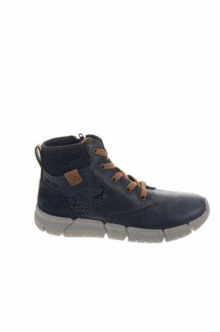 Παιδικά παπούτσια Geox, Μέγεθος 34, Χρώμα Μπλέ, Γνήσιο δέρμα, κλωστοϋφαντουργικά προϊόντα, Τιμή 46,54€
