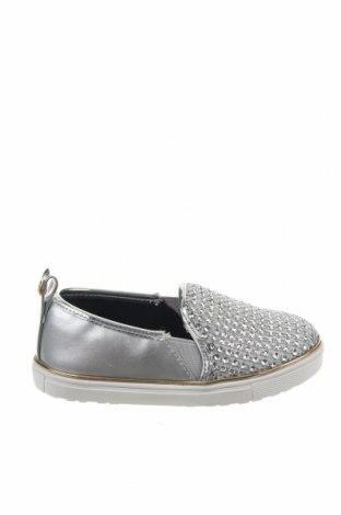 Παιδικά παπούτσια River Island, Μέγεθος 23, Χρώμα Γκρί, Δερματίνη, κλωστοϋφαντουργικά προϊόντα, Τιμή 13,46€