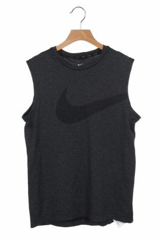 Μπλουζάκι αμάνικο παιδικό Nike, Μέγεθος 10-11y/ 146-152 εκ., Χρώμα Γκρί, Πολυεστέρας, Τιμή 11,43€
