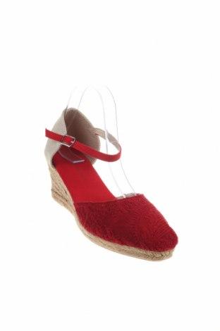 Εσπάδριλλες Nicewalk, Μέγεθος 40, Χρώμα Κόκκινο, Κλωστοϋφαντουργικά προϊόντα, Τιμή 14,20€