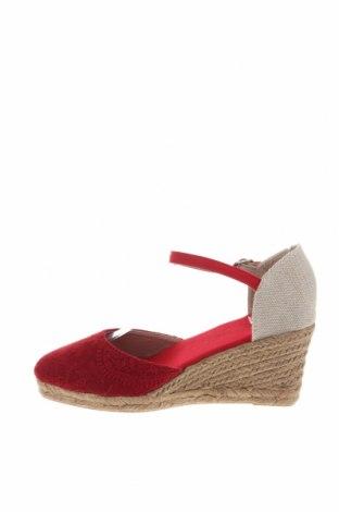Εσπάδριλλες Nicewalk, Μέγεθος 38, Χρώμα Κόκκινο, Κλωστοϋφαντουργικά προϊόντα, Τιμή 14,20€