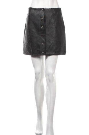 Δερμάτινη φούστα Topshop, Μέγεθος S, Χρώμα Μαύρο, Δερματίνη, Τιμή 21,29€