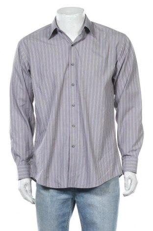Мъжка риза Angelo Litrico, Размер M, Цвят Сив, Памук, Цена 3,00лв.