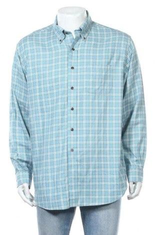 Мъжка риза Brooks Brothers, Размер L, Цвят Син, 85% памук, 15% кашмир, Цена 24,57лв.