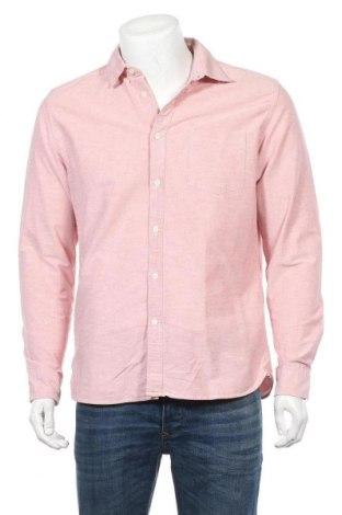 Мъжка риза H&M L.O.G.G., Размер M, Цвят Розов, Памук, Цена 8,93лв.