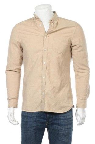 Мъжка риза H&M L.O.G.G., Размер S, Цвят Бежов, Памук, Цена 17,96лв.