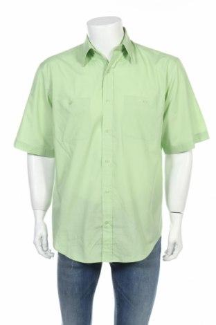 Мъжка риза Henry Morell, Размер M, Цвят Зелен, 65% полиестер, 35% памук, Цена 15,12лв.