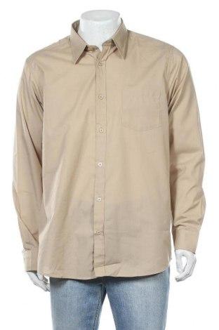Ανδρικό πουκάμισο Infinity, Μέγεθος L, Χρώμα Καφέ, 65% πολυεστέρας, 35% βαμβάκι, Τιμή 8,53€