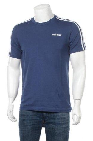 Ανδρικό t-shirt Adidas, Μέγεθος M, Χρώμα Μπλέ, Βαμβάκι, Τιμή 26,68€