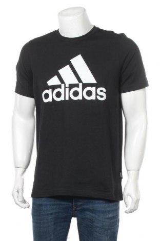 Ανδρικό t-shirt Adidas, Μέγεθος M, Χρώμα Μαύρο, Βαμβάκι, Τιμή 26,68€