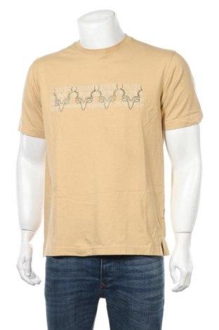 Мъжка тениска Camel Active, Размер M, Цвят Бежов, Памук, Цена 68,25лв.