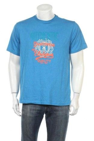 Ανδρικό t-shirt Kappa, Μέγεθος L, Χρώμα Μπλέ, 60% βαμβάκι, 40% πολυεστέρας, Τιμή 11,11€