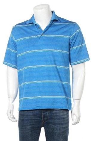 Мъжка тениска Kirkland, Размер M, Цвят Син, 94% полиестер, 6% еластан, Цена 18,90лв.