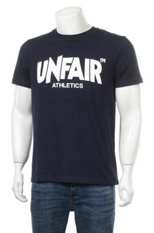 Мъжка тениска Unfair Athletics, Размер M, Цвят Син, Памук, Цена 19,14лв.