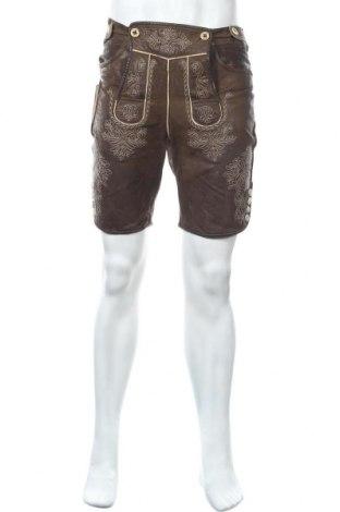 Мъжки гащеризон Trachten, Размер M, Цвят Кафяв, Естествен велур, Цена 33,92лв.