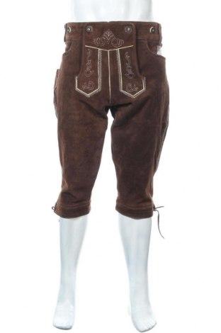 Мъжки кожен панталон, Размер L, Цвят Кафяв, Естествен велур, Цена 61,95лв.