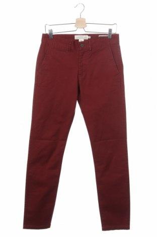 Мъжки панталон H&M L.O.G.G., Размер S, Цвят Червен, 97% памук, 3% еластан, Цена 23,21лв.