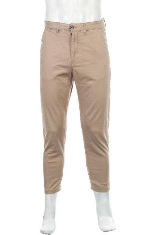 Мъжки панталон H&M L.O.G.G., Размер S, Цвят Бежов, 98% памук, 2% еластан, Цена 8,51лв.