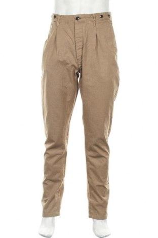 Мъжки панталон H&M L.O.G.G., Размер L, Цвят Кафяв, Памук, Цена 7,56лв.