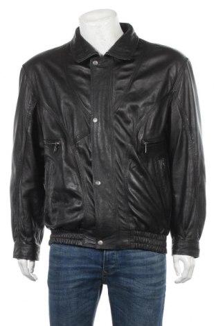 Мъжко кожено яке Maddox, Размер L, Цвят Черен, Естествена кожа, Цена 22,58лв.