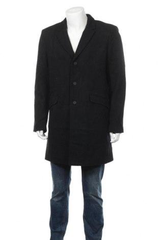 Мъжко палто Only & Sons, Размер XL, Цвят Черен, 50% полиестер, 50% вълна, Цена 119,25лв.