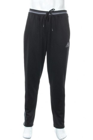Ανδρικό αθλητικό παντελόνι Adidas, Μέγεθος XL, Χρώμα Μαύρο, Πολυεστέρας, Τιμή 25,33€