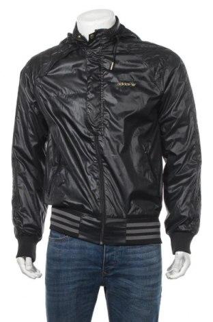 Ανδρικό αθλητικό μπουφάν Adidas, Μέγεθος M, Χρώμα Μαύρο, Πολυεστέρας, Τιμή 29,13€