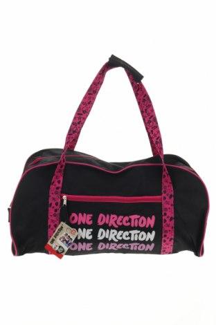Пътна чанта One Direction, Цвят Черен, Текстил, Цена 39,27лв.