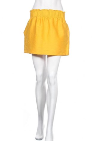 Пола COS, Размер M, Цвят Жълт, 57% вълна, 32% памук, 11% коприна, Цена 45,89лв.