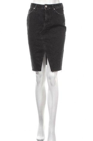 Пола H&M, Размер XS, Цвят Черен, Памук, Цена 22,05лв.