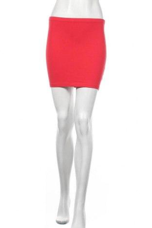 Пола H&M, Размер XS, Цвят Червен, 95% памук, 5% еластан, Цена 3,61лв.