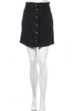 Пола H&M L.O.G.G., Размер XS, Цвят Черен, 55% лен, 45% вискоза, Цена 15,70лв.