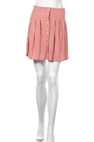 Пола Mango, Размер XS, Цвят Розов, Вискоза, Цена 35,91лв.