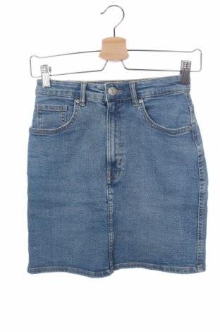 Пола Zara, Размер XS, Цвят Син, 98% памук, 2% еластан, Цена 16,38лв.