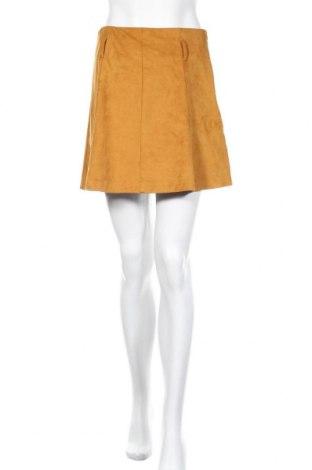 Пола Zara, Размер M, Цвят Жълт, 90% полиестер, 10% еластан, Цена 18,48лв.
