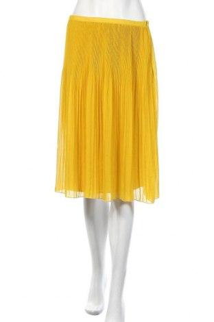 Пола Zara, Размер S, Цвят Жълт, Полиестер, Цена 35,70лв.