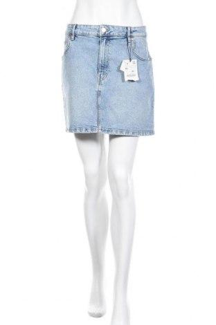 Пола Zara, Размер XL, Цвят Син, 98% памук, 2% еластан, Цена 36,75лв.