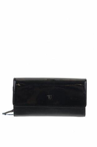 Портмоне Trussardi Jeans, Цвят Черен, Еко кожа, Цена 62,30лв.