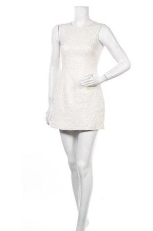 Рокля H&M, Размер S, Цвят Бял, 63% памук, 30% полиестер, 7% метални нишки, Цена 15,75лв.