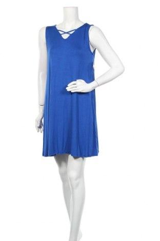 Φόρεμα Poof, Μέγεθος M, Χρώμα Μπλέ, 95% βισκόζη, 5% ελαστάνη, Τιμή 10,46€