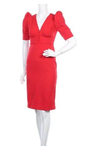 Рокля Trendyol, Размер XS, Цвят Червен, 95% полиестер, 5% еластан, Цена 46,50лв.