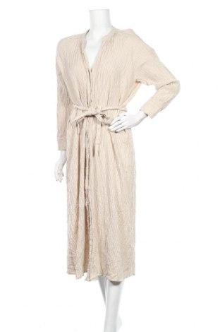 Šaty  Zara, Velikost L, Barva Béžová, 85% bavlna, 12% len, 2% polyamide, 1% elastan, Cena  545,00Kč