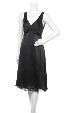 Рокля Zara, Размер L, Цвят Черен, Коприна, Цена 28,35лв.