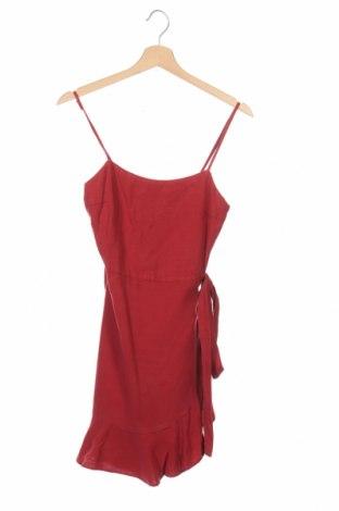 Rochie Zara Trafaluc, Mărime XS, Culoare Roșu, 70% lyocell, 30% in, Preț 219,57 Lei