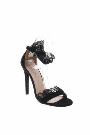 Σανδάλια Bebo, Μέγεθος 37, Χρώμα Μαύρο, Κλωστοϋφαντουργικά προϊόντα, Τιμή 23,62€