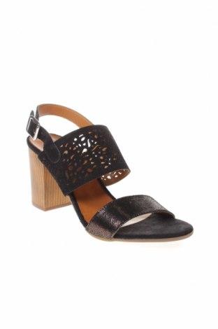 Сандали CAFèNOIR, Размер 39, Цвят Черен, Естествен велур, естествена кожа, Цена 43,60лв.